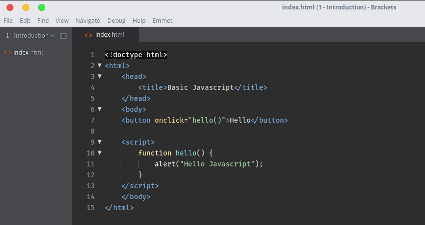 Hello Javascript Source Code